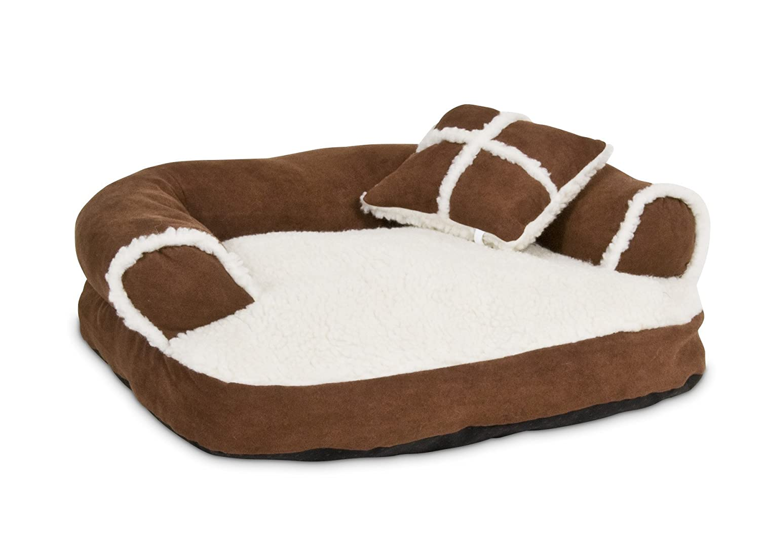 Dog beds that look like couches - Amazon Com Petmate Aspen Pet Sofa Bed With Pillow 20 X 16 Inches Colors May Vary Pet Beds Pet Supplies