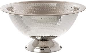 Elegance Hammered Punch Bowl, 15-Inch