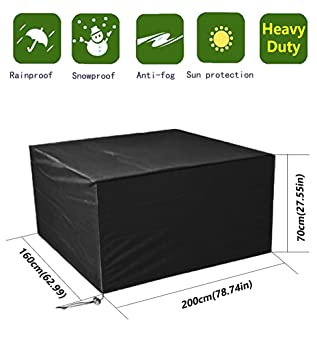 Waterproof Garden Furniture Covers Anderlay furniture covers polyester oxford waterproof outdoor garden anderlay furniture covers polyester oxford waterproof outdoor garden furniture table and chair covers black 200 workwithnaturefo