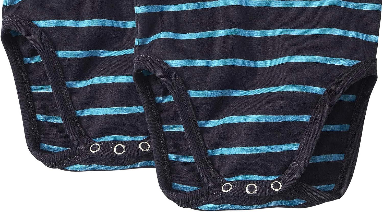 Color Azul Marino con Rayas Azul Turquesa WELLYOU Conjunto de 2 Bodys sin Mangas para beb/és//ni/ños Tallas 50-98