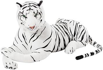 BRUBAKER - Peluche Tigre de Color Blanco de 110 Centímetros ...