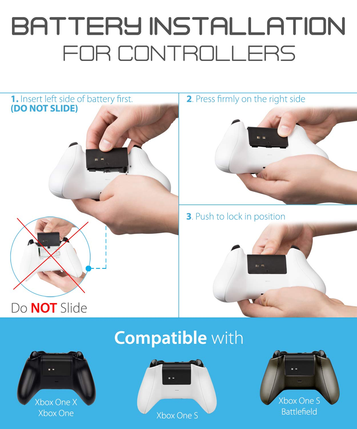 Fosmon Xbox One X S Controller Charger Dual Once Attached They Look Part Of The And Not An Slot High Speed Docking Charging Station With 2 1000mah Rechargeable Battery Packs