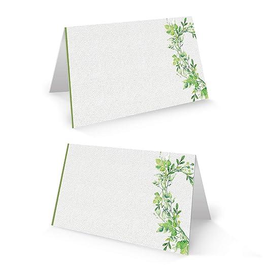Logbuch-Verlag - Placa con Nombre para Mesa, Tarjeta para Boda, cumpleaños, comunión, Fiesta, Tarjeta para Sentarse, decoración de Mesa, por Supuesto ...