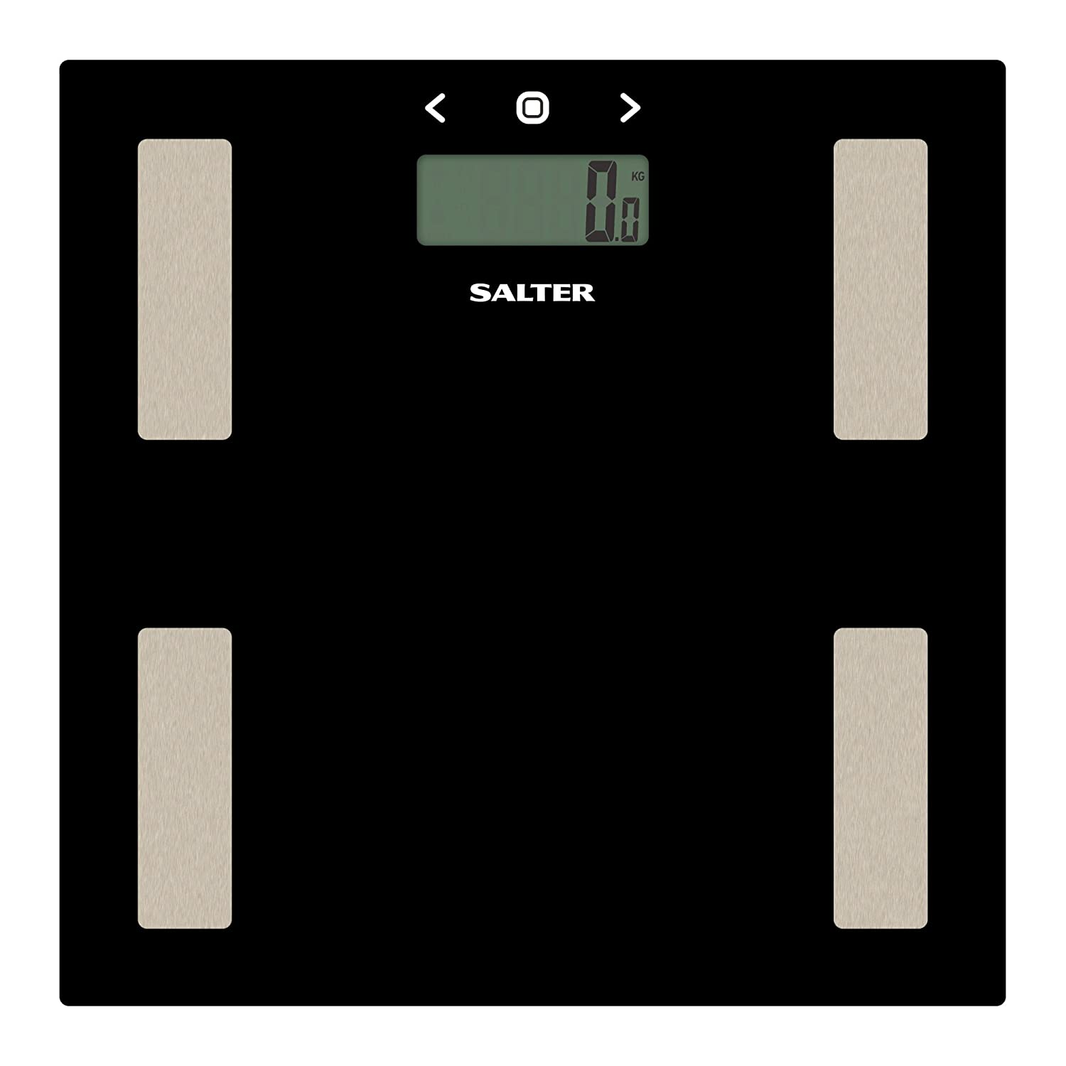 Salter Glass Body Analyser Digital Bathroom Scales Measure Weight