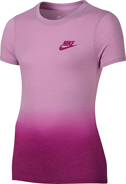 aa486eda Image Unavailable. Image not available for. Color: Nike Girls' Sportswear  Dip Dye Printed T-Shirt ...