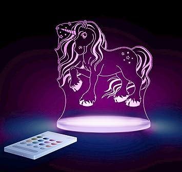 Wonderful Aloka Einhorn Motiv Nachtlicht   Kinderzimmer Baby LED Lampe Farbwechsel  Fernbedienung Schlafmodus, Mehrfarbig Pictures