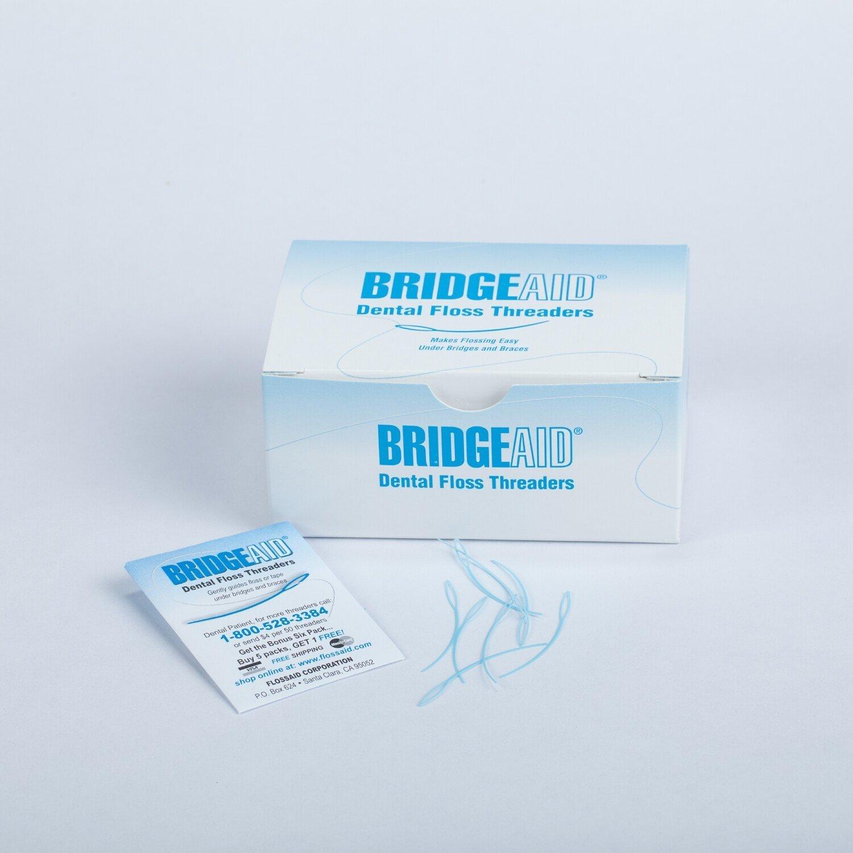 Floss Aid Bridgeaid Floss Threader 1000/bx BND- Floss Aid Corp