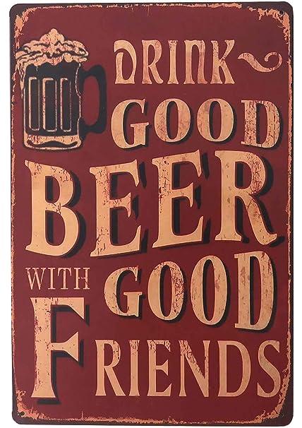 Amazon Com Sudagen Vintage Beer Signs Bar Sign Funny Drink Good