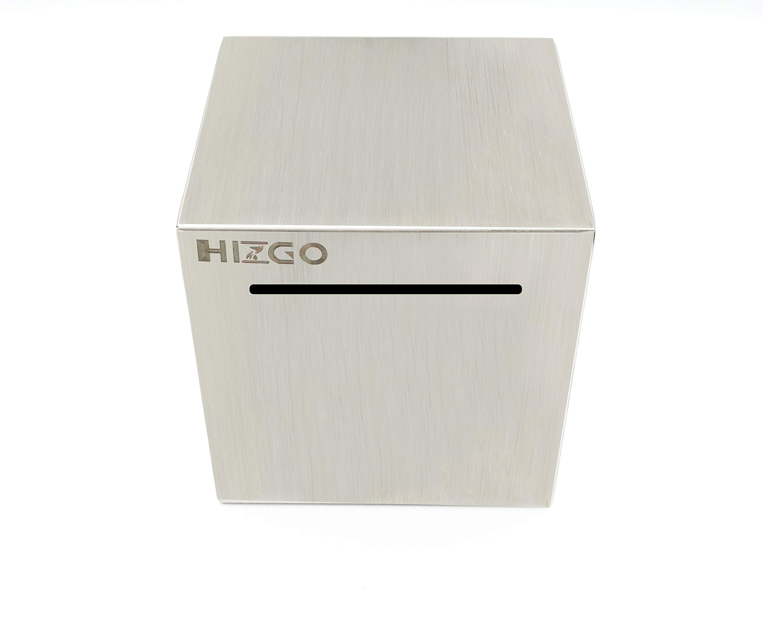 HIZGO Safe Piggy Bank Made Stainless Steel Adult Money Box Savings Bank for Kids Can Only Save Cannot Taken Out by HIZGO