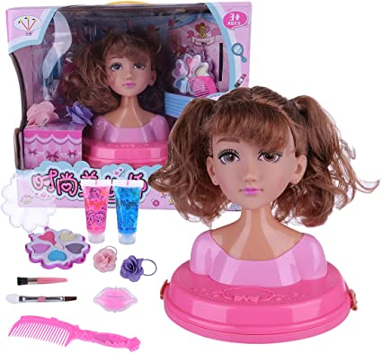 ans Salon World Kids Childrens Toy Styling Head Playset 5