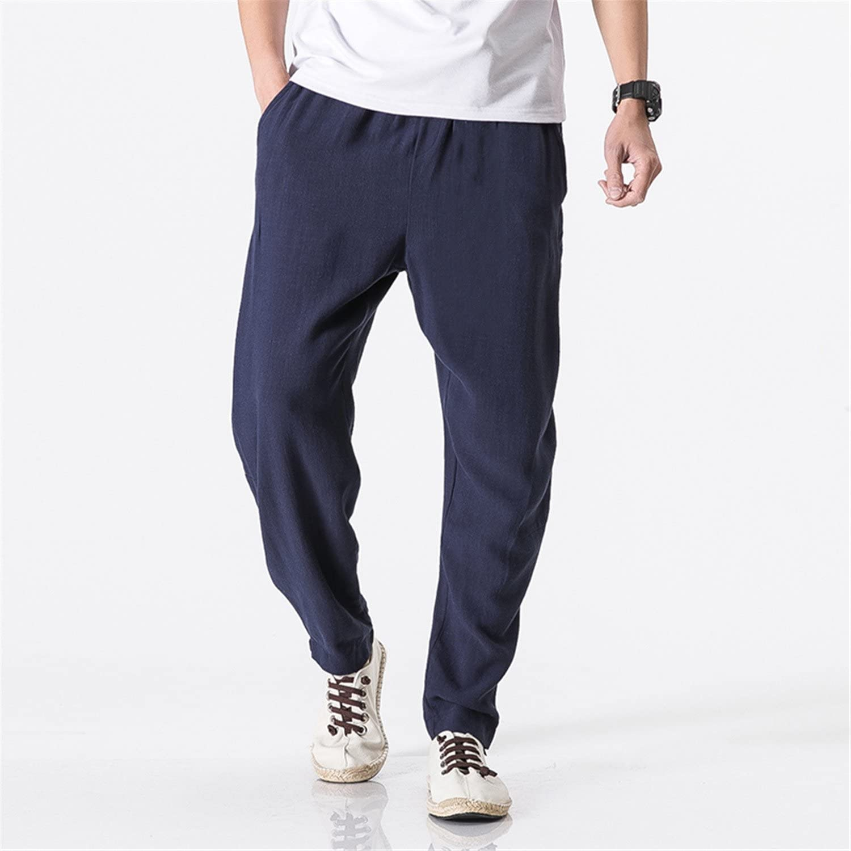 Jongood Trendy Men Pure Color Leisure Elastic Waistline Trousers//Male high-Grade Comfortable Pants