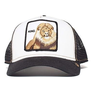 df17acba Goorin Bros Men's Lion 'King' Patch Trucker Hat Cap (Black & White ...