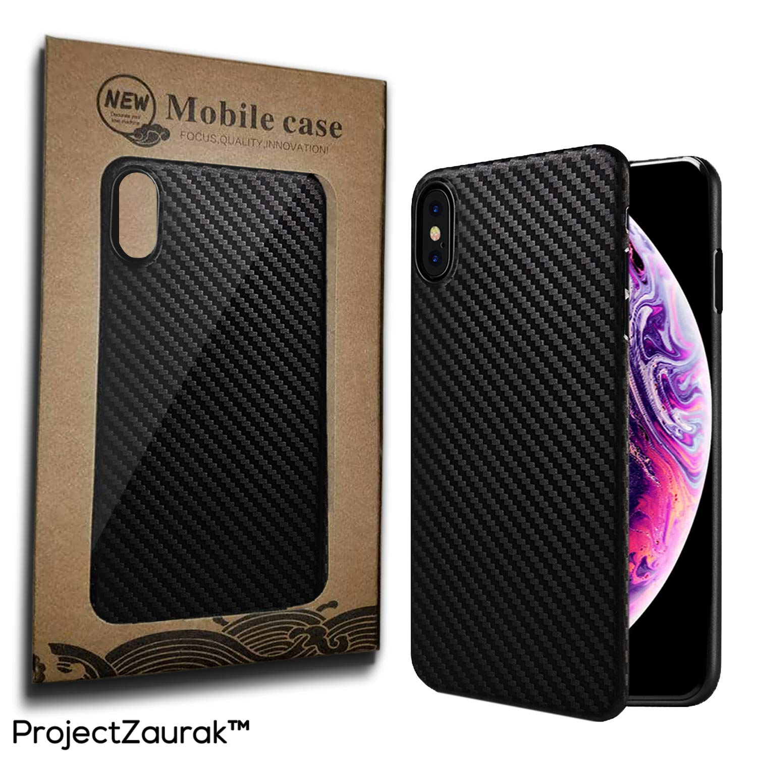 reputable site 16855 b704b Carbon Fiber Case For iPhone X and XS by Project Zaurak - Ultra Thin Slim  Case Cover For Apple 5.8