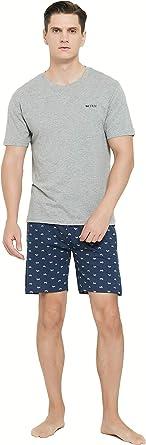 PimpamTex – Pijama Hombre de Verano, Conjunto 2 Piezas ...