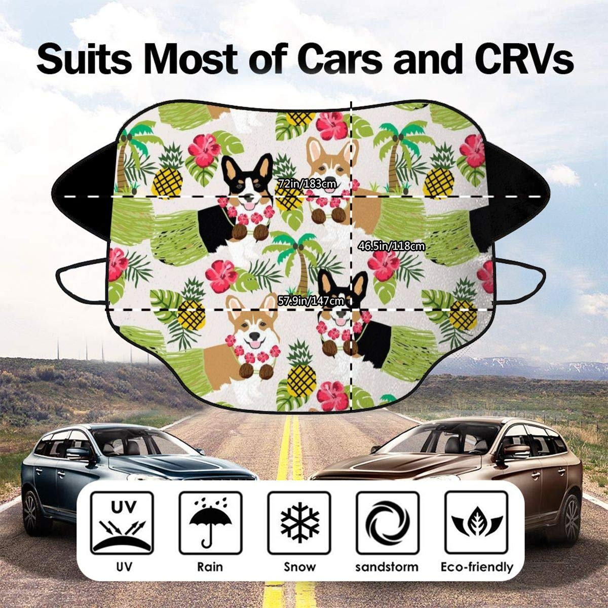 UV Sun and Heat Reflector Keep Your Vehicle Cool Jadetian I Elephant Alabama Car Windshield Foldable Sun Shade Universal for Cars SUV Truck