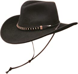 Black Creek Hats BC-2003 100% Crushable Wool Felt Western Cowboy Hat 1d31f4bbac99
