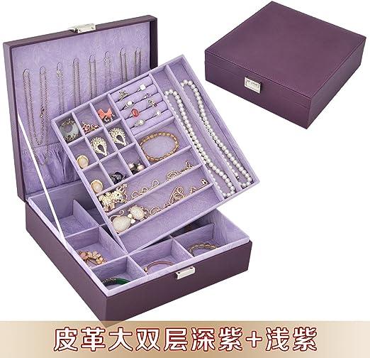 lzzfw Caja de regalo de Navidad Caja de regalo Caja de regalo de caja de almacenamiento de joyerÃa de cuero de terciopelo de alto volumen: Amazon.es: Hogar