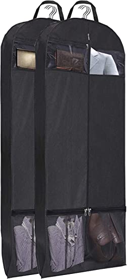 """54/"""" Trifold Dress Garment Bags For Travel Gusseted Suit Cover W 2 LARGE Mesh Sho"""