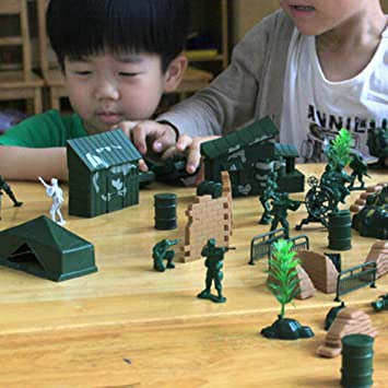 90PCS Plastic Model Playset Toy Soldiers Action Figures Army Men Accessories TY