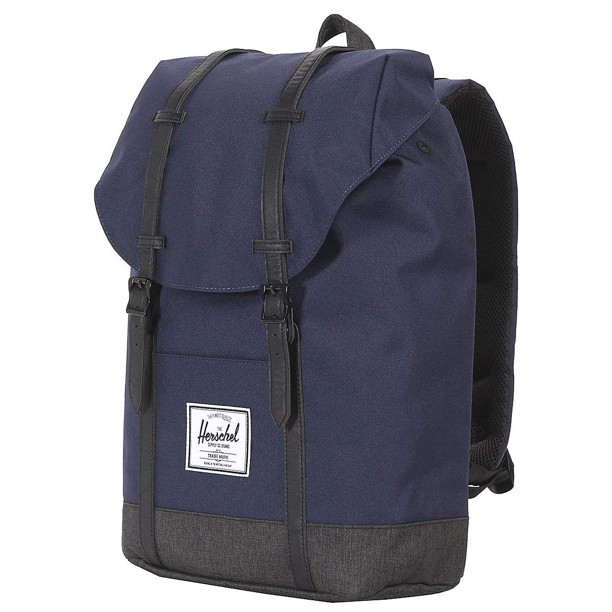 Herschel Retreat Backpack, Peacoat/Black Crosshatch, One Size