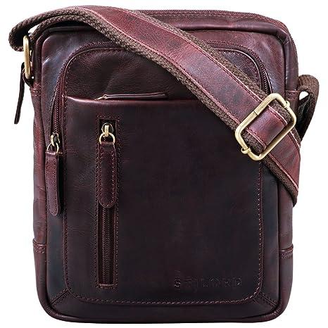 082b89c668933 STILORD  Jamie  Herren Ledertasche Umhängetasche klein Vintage Messenger Bag  Herrenhandtasche für 9.7 Zoll iPad