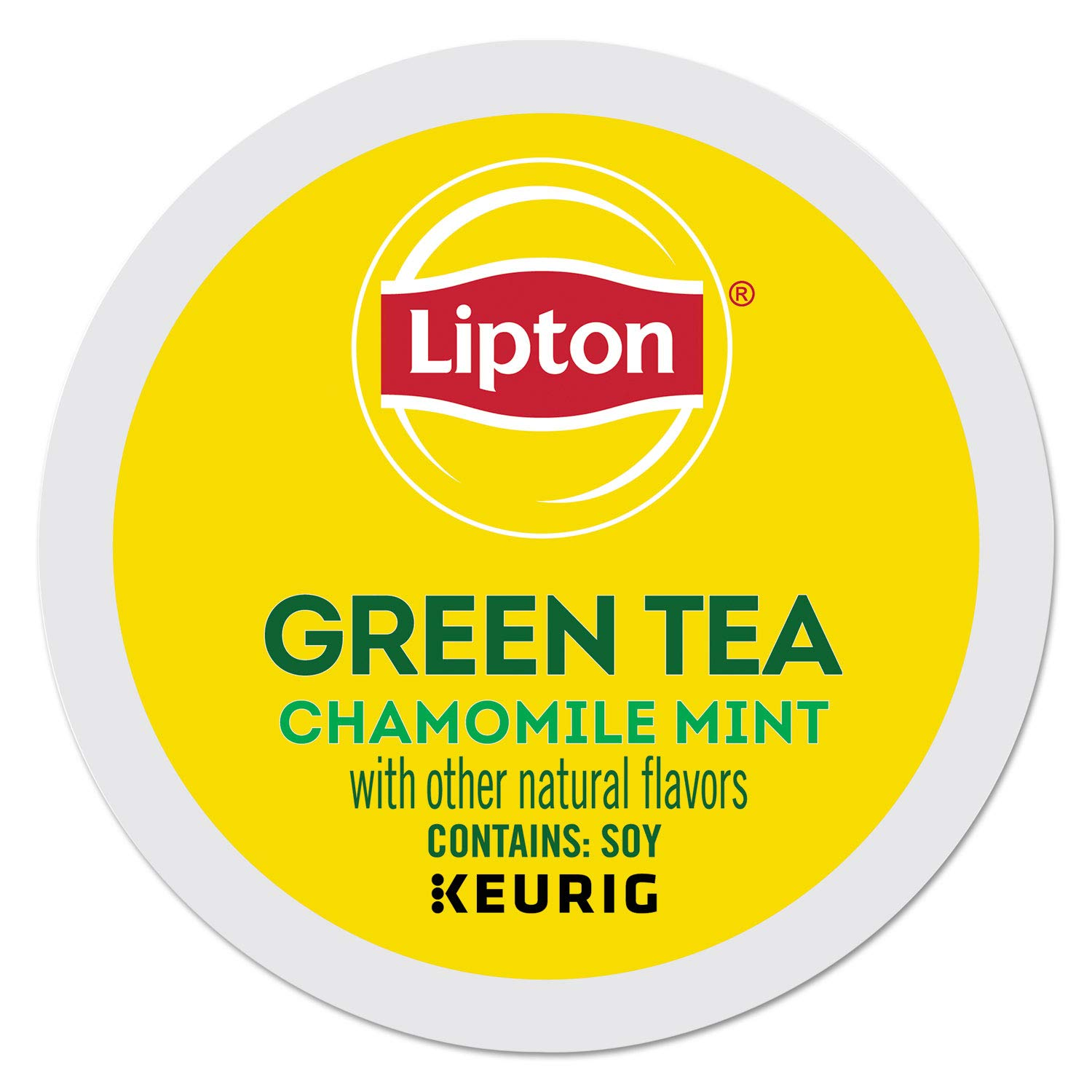 Lipton Green Tea K-Cup Portion Pack for Keurig Brewers, Soothe Smooth, 24 Count
