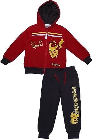 Pokèmon - Chándal - para niño Rojo Rosso 3-4 Años: Amazon.es: Ropa ...