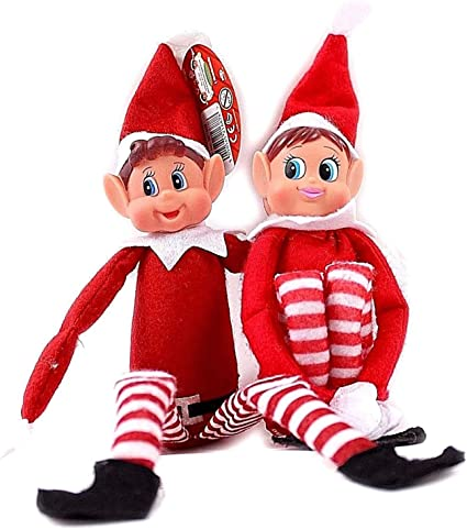 Elvie - Girl Traditional Christmas Family Fun with Magical Santa Scout Elfie Elvie Toy Fun and Playful Elves Behavin/' Badly Figure with Soft Body and Vinyl Face Ossian Naughty Little Xmas Elf