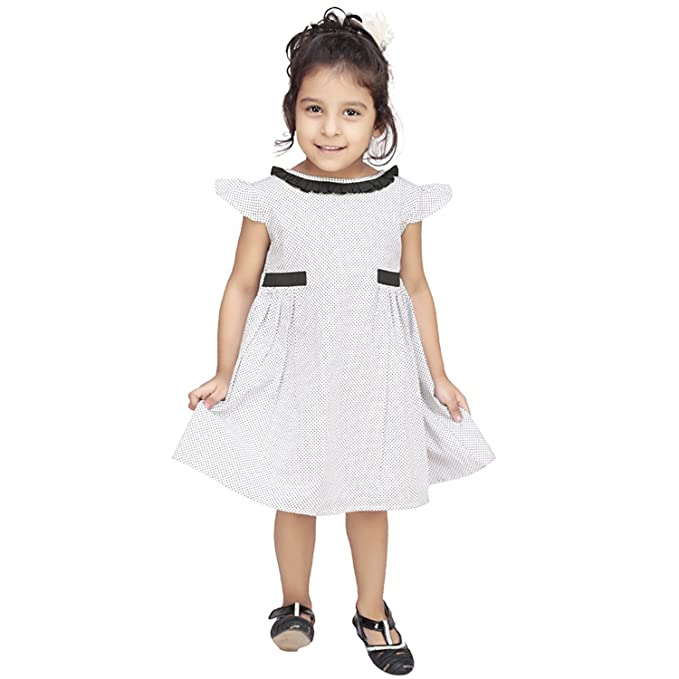 a434070034 Olele Girls Mini Polka Black Patch Dress