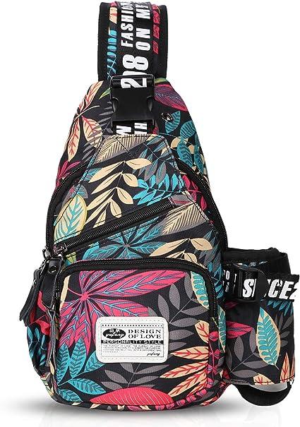 SEEU Sling Bag Backpack For Women Men Lightweight Chest Rope One Strap Crossbody