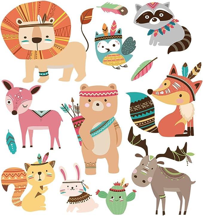 Hergon - Parches de animales para ropa de niños, pegatinas de bricolaje, parche de planchado para bolsos, sombreros ...