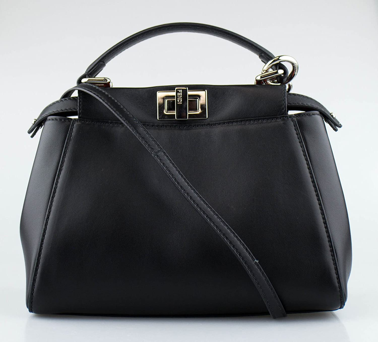 3bafd5aa9625 Amazon.com  Fendi Black Python Monster Eyes Peekaboo Shoulder Strap Mini  Handbag  Baby