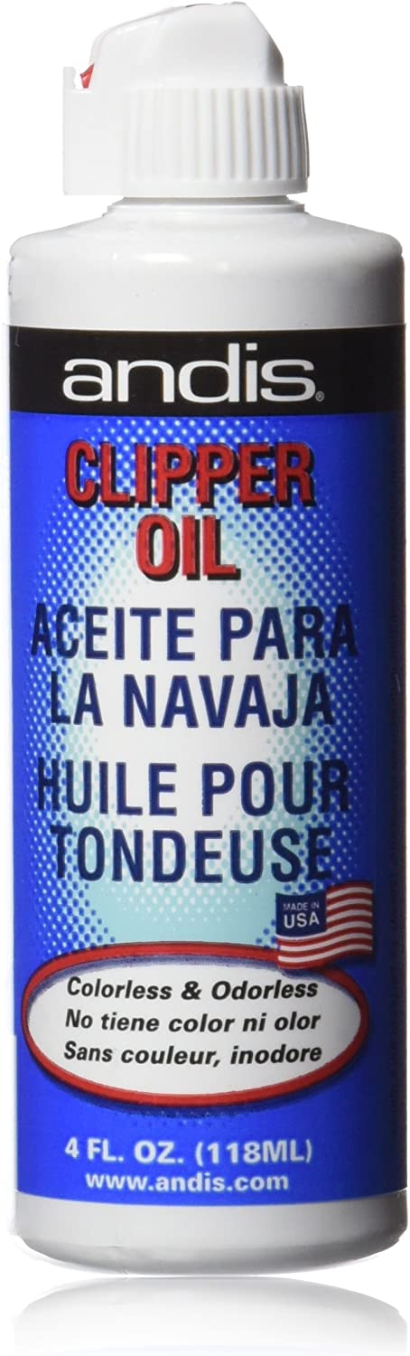 Andis - Botella dispensadora de aceite para navaja, 118 ml