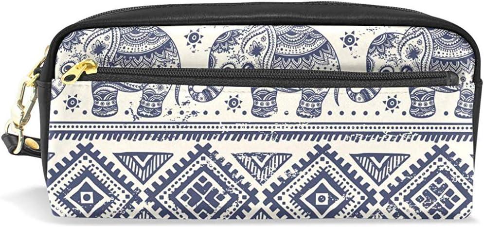 G.H.Y Estuche de lápices Bolsa Lotus Elefante étnico para Maquillaje Estudiante de Oficina 7.9x2.4x3.5in: Amazon.es: Hogar