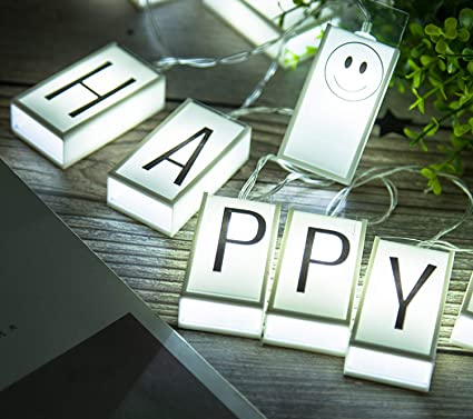 Letter Light Boxes.Alhxf Led Letter Light Box String Glow Letters 59in 10led Glow In The Dark Diy Letter Combination Sign Happy Birthday Banner Birthday Holiday