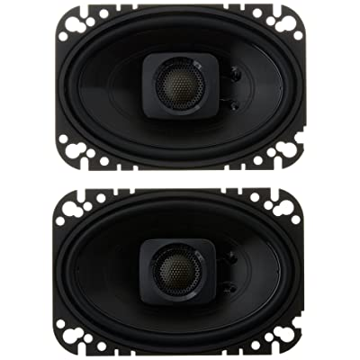 "Polk Audio DB462 DB+ Series 4""x6\"" Coaxial Speakers with Marine Certification, Black [5Bkhe1405874]"