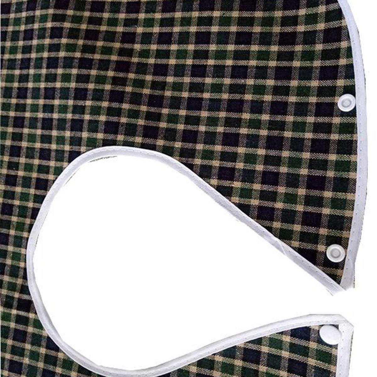 Haokaini Waterproof Adult Bibs, Saliva Towel Aprons Bibs for Elder, Unisex Adult Feeding Drinking Anti-Leak Clothes Clothing Protector (Color : Green)