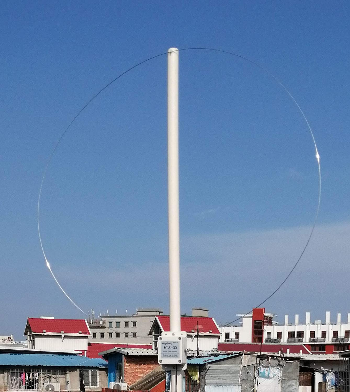 Antena de recepción activa MLA-30 de 100 kHz a 30 MHz para radio de onda corta