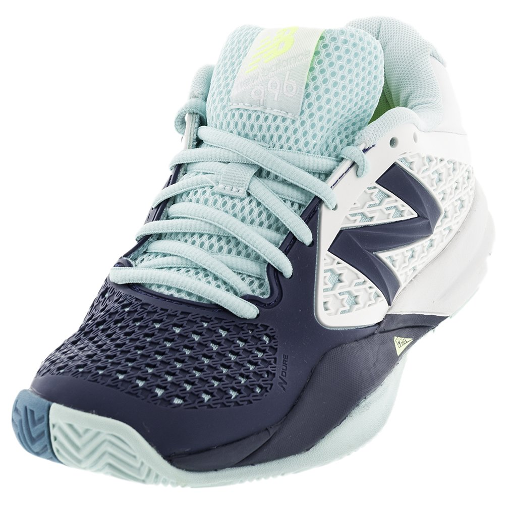 New Balance Women's 996v2 Lightweight Sea Glass/Deep Water Tennis Shoe - 5 B(M) US