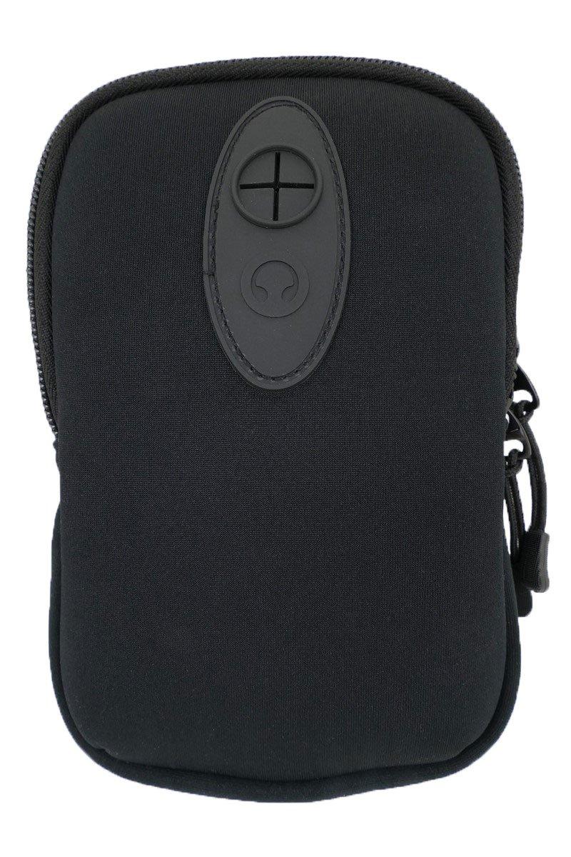 Sac de ceinture en néoprène avec deux compartiments, léger, idéal pour téléphone portable ou appareil photo compact Noir avec mousqueton et sortie écouteurs Nature Rebel