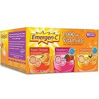 Emergen-C 1,000 mg Vitamin C Dietary Supplement Drink Mix, Super Orange/Raspberry...