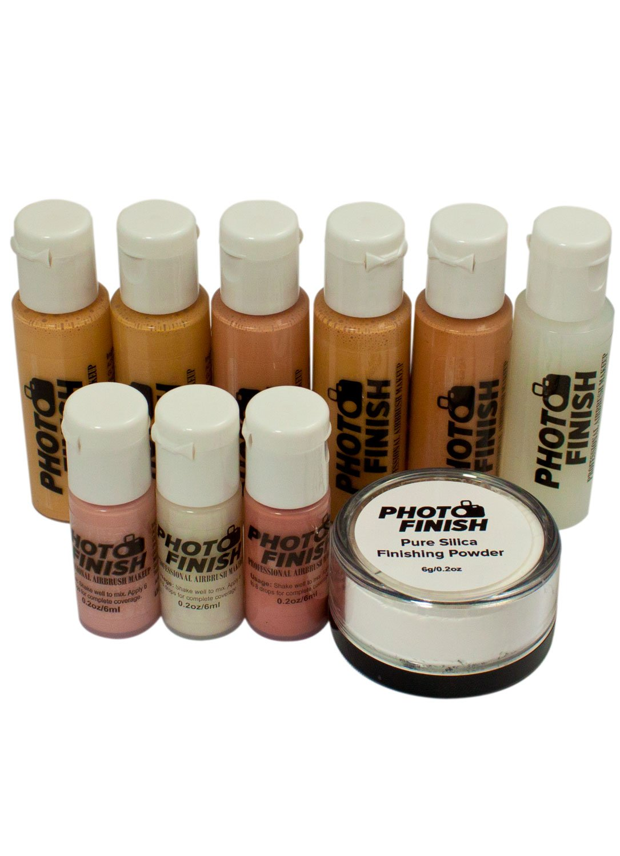 Photo Finish (Airbrush Makeup set-Makeup only-Luminous finish) Fair to Medium Shades