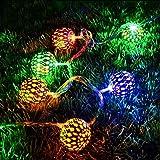 Techyshop Metal Ball LED White String Light For Diwali Decoration