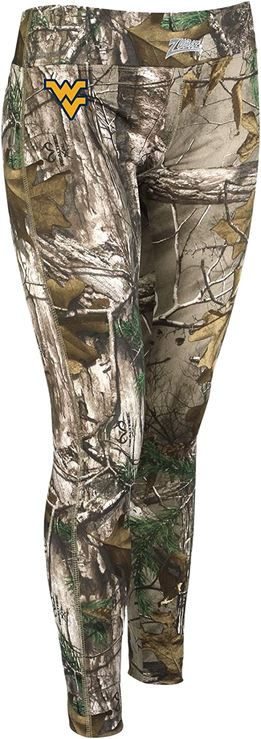 Zubaz Officially Licensed Women's NCAA Women's Realtree Leggings, Team Color