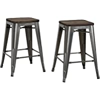 "2-Set DHP Fusion 24"" Metal Counter Stool"