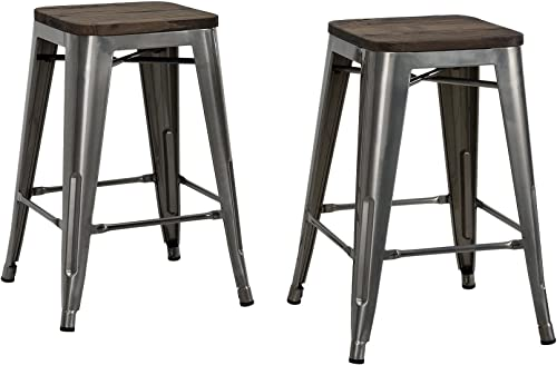 DHP Fusion Metal Backless 24 Counter Stool