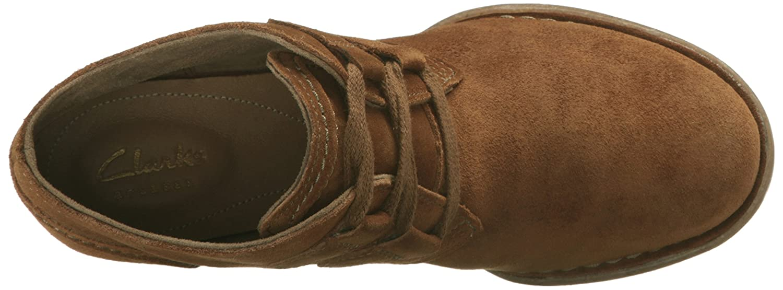 CLARKS Women's Carleta Lyon Boot B0195SQ6YQ 9 W US|Tan Suede