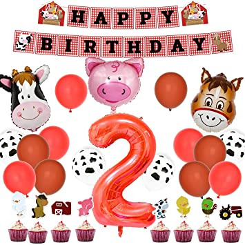 Amazon.com: Farm Animal - Kit de fiesta de 2º cumpleaños ...