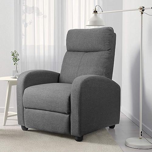 JUMMICO Fabric Recliner Adjustable Chair
