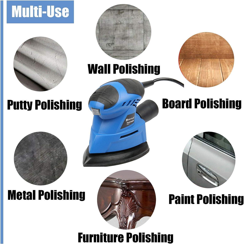 Multischleifer 130W Deltaschleifer Schleifmaschine mit 6 St/ück Schleifpapier leichte und einfache Bedienung Perfekt zum Schleifen von Holz//Kunststoff//beschichteten Oberfl/ächen